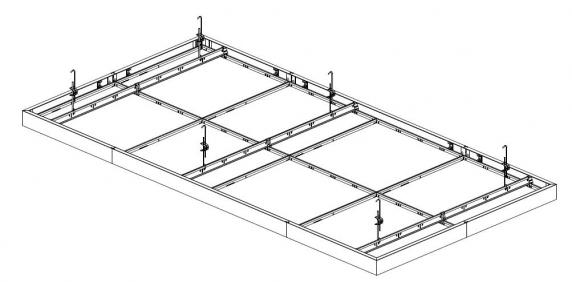 Insula® 76A island ceiling