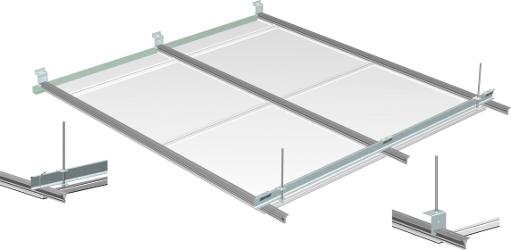 System for clip-on metal ceilings